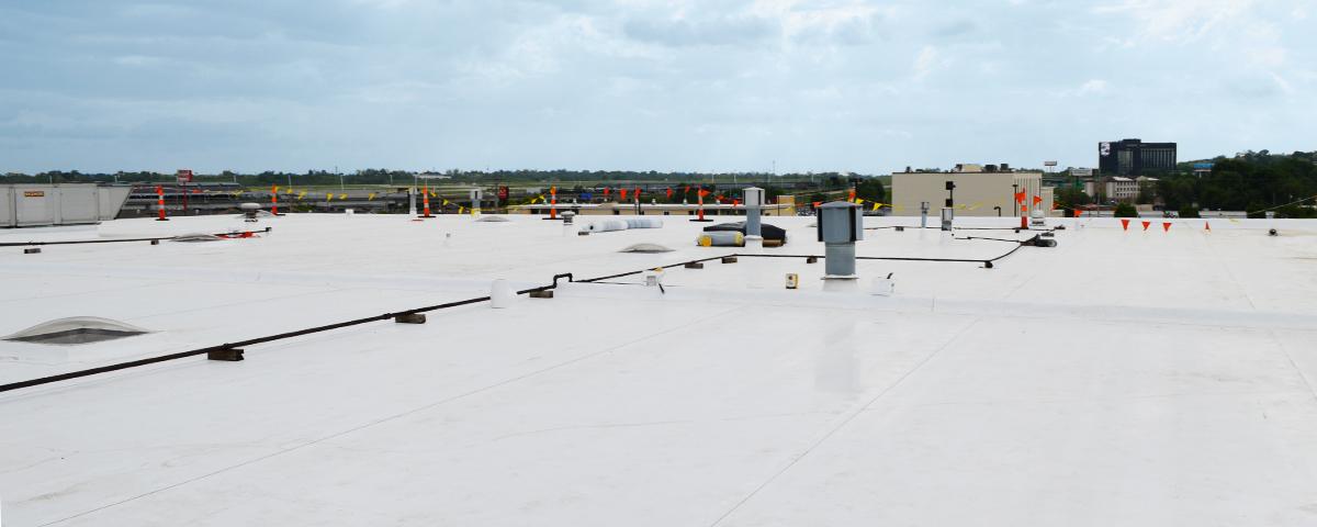 A modified bitumen commercial roof.